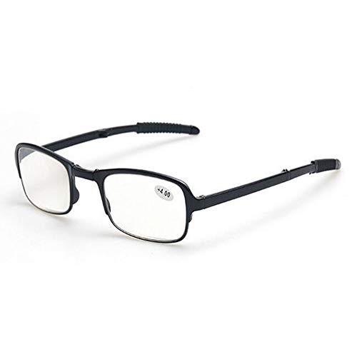 Lesebrille Faltbar Herren - Zhuhaixmy Super Leicht Schlank Rechteck Rahmen Computer Brille 1.0 1.5 2.0 2.5 3.0 3.5 4.0 Enthält Case