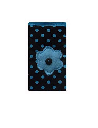 S٤e dunkle blaue Polka Dot Handy Socke Tasche - Apple iPhone 7 Plus