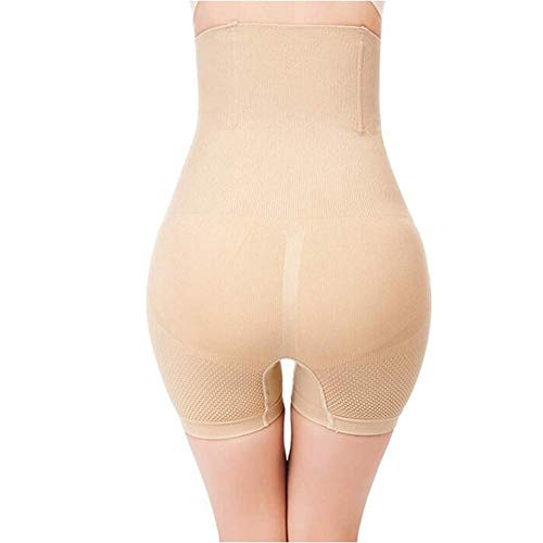 Damen Figurenformend Miederpants Miederhose Body Shape Bauch Kontrolle Unterwäsche Push-Up Po Und Butt Lifter Miederslip Höschen,Beige,XL/XXL - 4