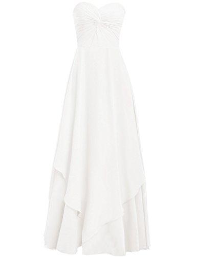 HUINI Damen Modern Kleid elfenbeinfarben