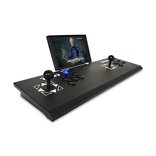 SU Kinderspielmaschine Arkade Doppel mit 10-Zoll-LCD-Bildschirm nach Hause anschließbaren Fernseher/Projektor/Computer