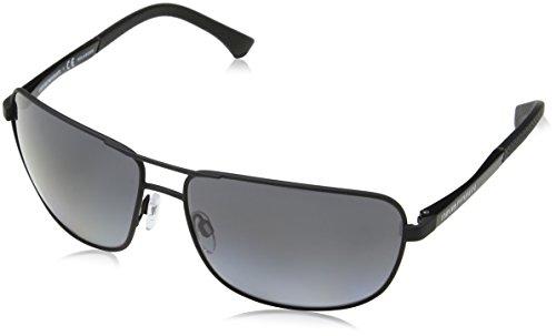Emporio Armani Herren 0EA2033 3175T3 64 Sonnenbrille, Schwarz (Black/Polargreygradient)