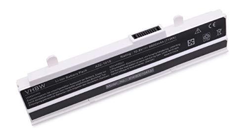 vhbw Li-Ion Akku 6600mAh (10.8V) weiß für Notebook Laptop Asus Eee PC 1215B, 1215N wie A32-1015, A31-1015, AL31-1015, PL32-1015. Laptop Asus Eee Pc
