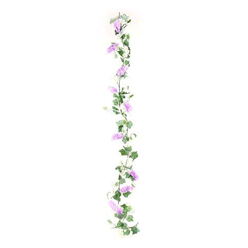 Kunstblumen, Kunstpflanze, Fliedergirlande, Violett, L: 200 cm | knuellermarkt.de | Flieder künstlich, Fensterdeko, Tischdeko, Dekoration, Hochzeitsdeko, Garten Deko, Balkon,