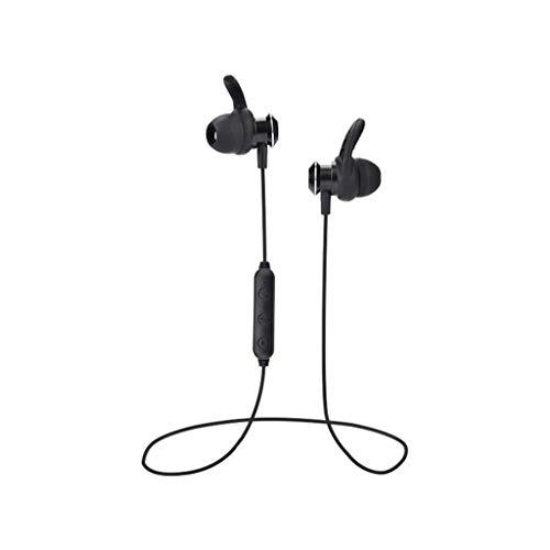 SYY In Ear Stereo Ohrhörer, Sweatproof csr 4.1 Bluetooth Kopfhörer Drahtlose Ohrhörer Stereo Headset mit Mikrofon, 5 Stunden Laufzeit, für iPhone, Android Smartphones usw (Schwarz) -