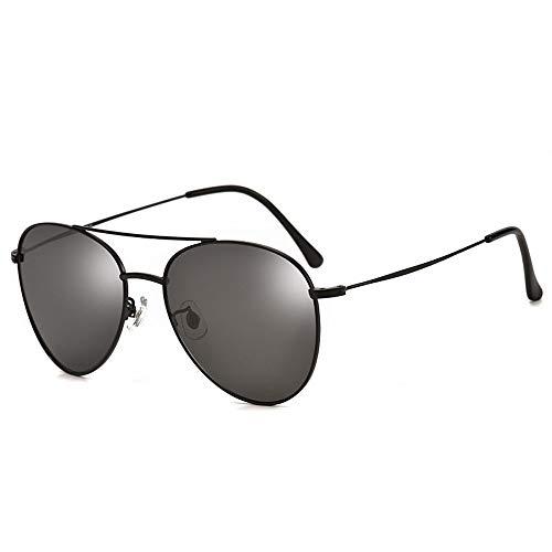 Szblk Polarisierte Sonnenbrille 100% UV-Schutz Mode Sonnenbrillen Outdoor-Sonnenbrille Retro-Spiegel Unisex (Color : Black)