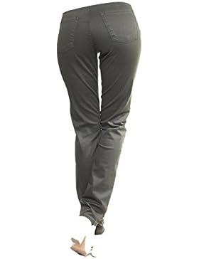 OranJeans Pantalon Tiro Alto Verde Militar