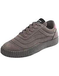 b8603c7a Juleya Mocasines con Cordones Planos para Mujer Tacones Bajos Planos  Mocasines cómodos Oficina de conducción Deporte Zapatos…