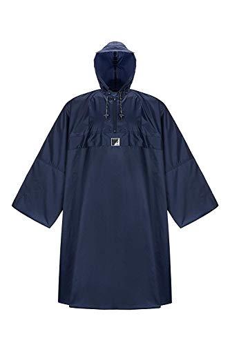 HOCK Regenponcho Wetter AS Klima mit Langen Ärmeln - Der Atmungsaktive Outdoor Poncho für Damen und Herren Blau, L