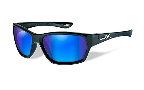 WILEY X MOXY Polarized Blue Mirror Gloss Black Frame