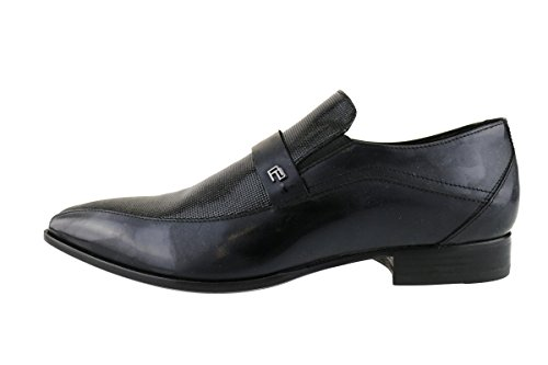 CARLO PIGNATELLI classiche uomo nero vernice pelle lucida AH738 (41 EU)