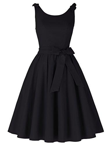 50s vintage rockabilly kleid damen schwarz festliches kleid partykleider cocktailkleid Größe S (20 Kleider S)