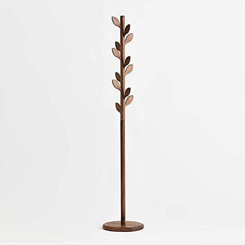 HhGold Baum-Blatt-Kleiderständer stehender Aufhänger Vertikaler Kleiderbügel Kann zusammengebaut Werden Schwarzes Walnuss-Holz 185 & Zeiten; 45 & Zeiten; 45 cm (Farbe : -, Größe : -)