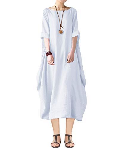 BONESUN Women Summer Linen Cotto...