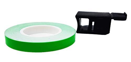 Quattroerre - 10290- Cinta adhesiva para ruedas de color verde fluorescente, 7mm...