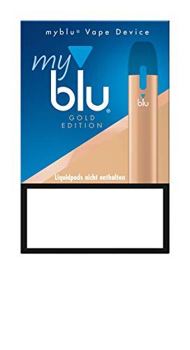 E-Zigarette myblu Farbe Gold/Nur Batterieeinheit ohne Nikotin/ohne Tabak/ohne Pods - 350 mAh mit USB Ladestecker