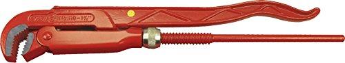VBW Rohrzange 90 Grad, rot lackiert poliert 1, 110010