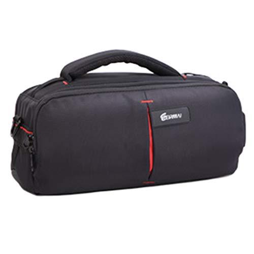 YXMYMM Rollkamera Rucksack Trolley mit Seitengriff Anti-Schock Durable Wheeled Cabin Handgepäck Laptop Rucksack Tasche,Black-Small -