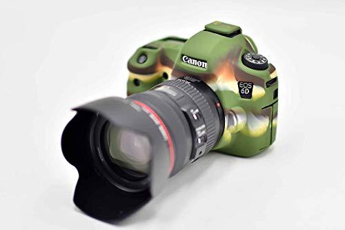 Schutz Weich Silikon Gummi Kamera Fall Shell Cover für Nikon EOS 6D Digital Kamera Grün Zoom + Focuw -