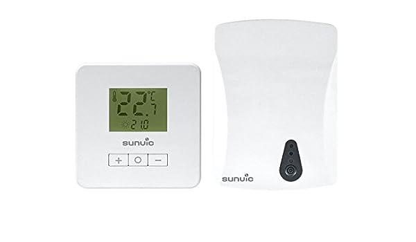 White Sunvic EStatRF Electronic Radio Frequency Room Thermostat 230 V