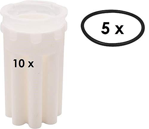 Siku-Filter, 50-70 µm Heizölfilter, Sternform 10 Stück Incl. 5 Stück O- Ringen -