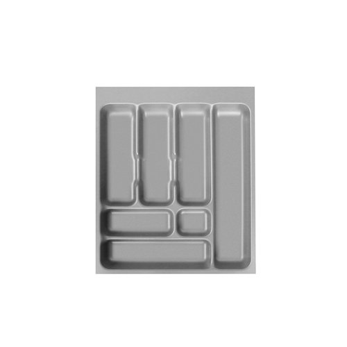 ORGA-BOX/® IV UNIVERSAL zuschneidbarer Besteckeinsatz Besteckkasten silbergrau f/ür 80er Schublade 473,5 x 726 mm