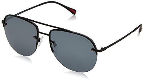 Prada Sport Herren 0PS53SS DG05L0 59 Sonnenbrille, Schwarz Rubber/Grey Black