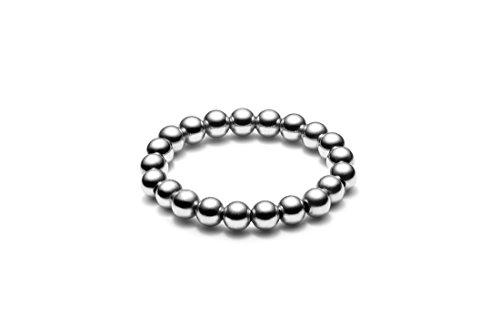 Kugelring elastisch • medium • Silber (58 - Oben Für Knuckle Ringe Silber