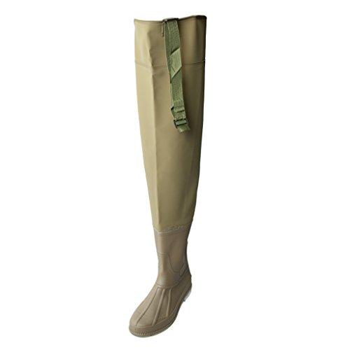 Dolity 1 Par de Botas Deportivas Altas Hip Waders Boots Comodidad Pesca Pescador Accesorio - marrón 2, 43
