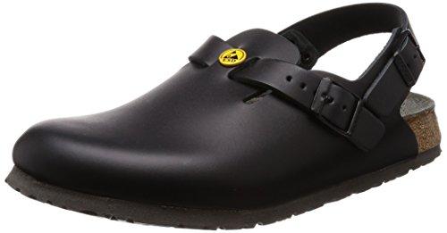 Birkenstock 61408-36-schmales Fußbett Schuh TOKIO Antistatik/Naturleder, Schwarz, Größe 36 (Birkenstocks Größe 36)