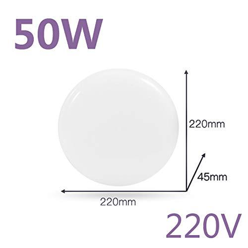 BFMBCHDJ Led Deckenleuchte Led Flächenleuchte 220V Moderne Deckenleuchte Wohnzimmer Oberflächenbeleuchtung Dekoratives Licht Warmweiß 50W 220X220X45MM