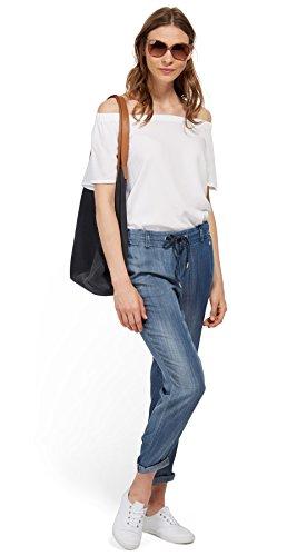 TOM TAILOR Damen Jeans Slim Tabea blue denim light wash