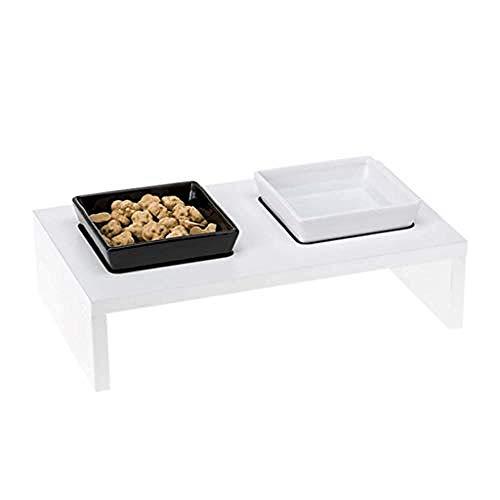 NEU Cat Bowl Dog Bowl Pet Table Geeignet für Katzen und kleine und mittlere Hunde (Zwei Größen) -