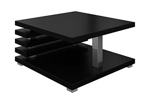 Couchtische Wohnzimmertische Beistelltisch Tisch Oslo 60 x 60 cm Matt Schwarz