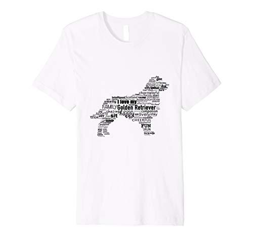 Golden Retriever Words T-Shirt Ways To Describe My Dog -