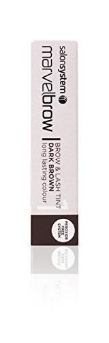 Salon System Marvelbrow Brow & Lash Tint Dark Brown Peroxide Free Gel Formula 15ml by Salon System