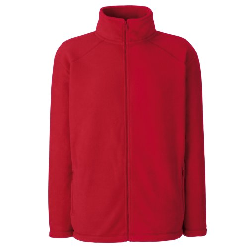 Fruit Of The Loom - Giacca in Pile con Zip - Donna Rosso