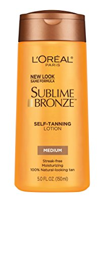 L'Oreal Paris Sublime Bronze Self-Tanning Lotion, Medium Natural Tan, 5.0 Ounces by L'Oreal Paris Skin Care (Natural Tan Medium Sublime Bronze)