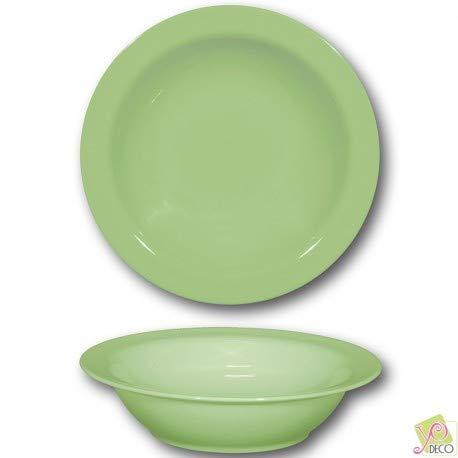 Plat creux en porcelaine Vert - D 26 cm - Siviglia