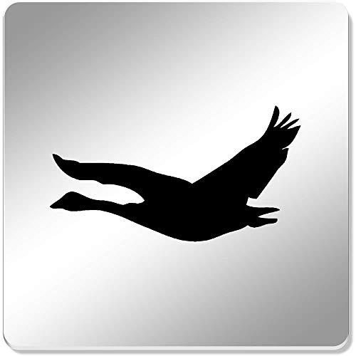 Azeeda 6 x 'Gans Silhouette' Spiegel Untersetzer (CR00049854) -