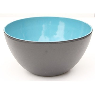 Amazing Cookware Terracotta Bowl, Ceramic, Matt Black/Blue, 14 x 14 x 8 cm