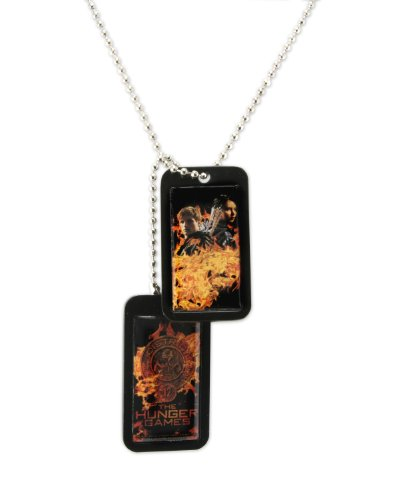 Feuer fangen mit Epoxidharz Katniss und Peeta Fire Dog Tag - Der Hunger (Peeta Und Katniss Kostüm)