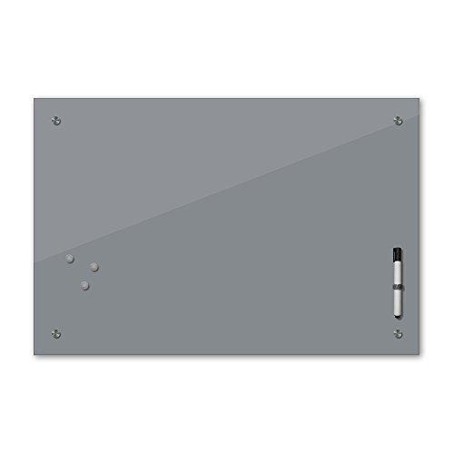 Bilderdepot24 Memoboard - 60 x 40 cm, 24 Farben - grau - Glas - Glasboard - Glastafel - Magnetwand - Pinnwand - Mehrzwecktafel Farbton - Grundfarbe - einfarbige Schreibtafel