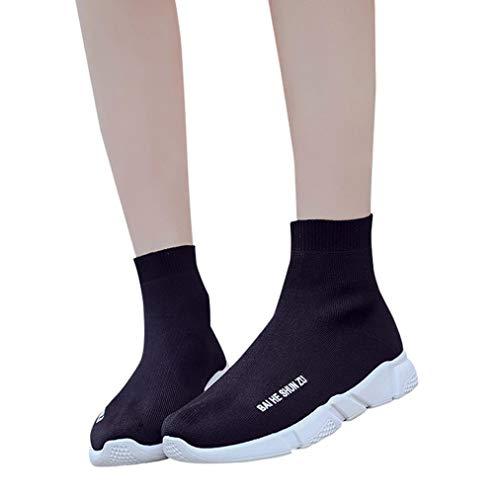 Sneaker Damen Turnschuhe Breathable Laufschuhe Stretch-Stoff Joggingschuhe Flache Atmungsaktiv Freizeitschuhe Sportschuhe Gym Schuhe,ABsoar