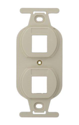 Leviton 41087-2TP QuickPort Duplex Type 106 Insert, 2-Port, Light Almond