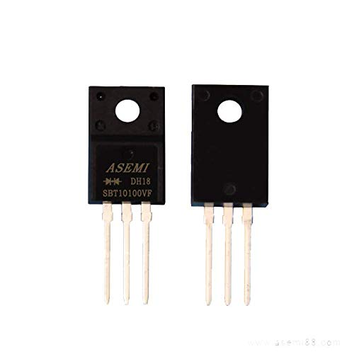 (Pack of 10pcs) SBT10100FCT ASEMI Low VF Schottky Barrier Diode 10A 100V ITO-220AB Package 3 Pins for LCD Television Vf-lcd