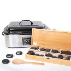 Kit Massage aux Pierres Chaudes: Hot Stone, Unité d'une capacité de 20 litres environ + 64 Pierres - Promafit