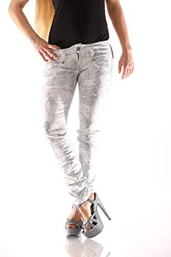 Herrlicher Pitch Slim Printed Satin N8186 182 Damen Jeans, Hosengröße:W29/L32 -