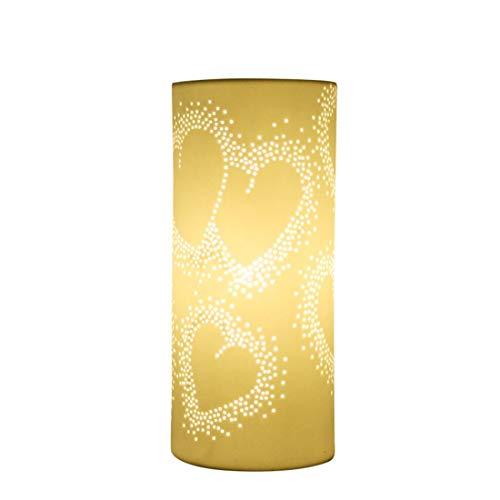 Kreative Mode Dekoration Ornamente E14 Weiße Herzform Geburtstag Verheiratet Geschenk Augenschutz Lesen Wohnzimmer Studie Schlafzimmer Nachttischlampe 11 * 24 ()