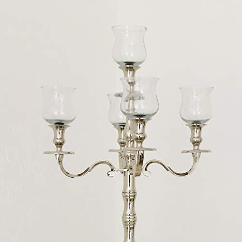 Dekowelten 1 x Großer GLASAUFSATZ 12cm - 8,5cm durchm. Dicke Version Glas für Kerzenleuchter Kerzenständer Klarglas f. Teelicht Windlicht